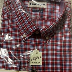 Barbour rich red shirt